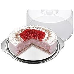 CHG 18085-15 - Plato para tartas con tapa (diámetro de 33,5 cm, altura de 14,5 cm)