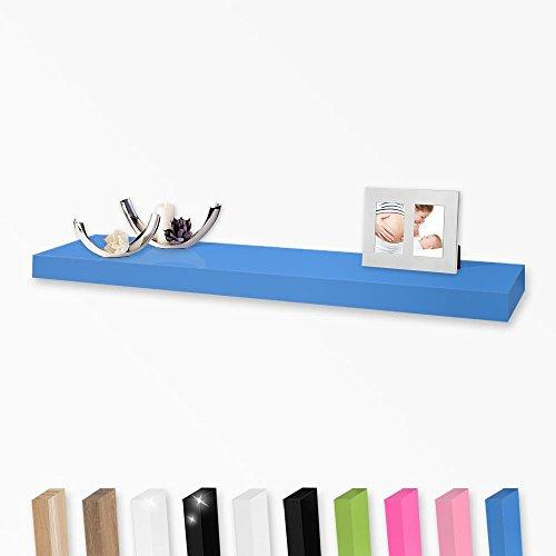 Wandboard Wandregal in vielen Farben und Größen, Farbe:Blau, Länge:60cm