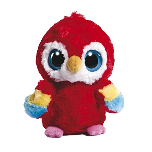 YooHoo and Friends 12983 - Loro de peluche (13 cm), color rojo