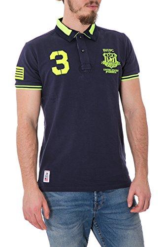 Beverly Hills Polo Club - Homme t-Shirt Regular fit Polo Shirt Printed bhpc3011