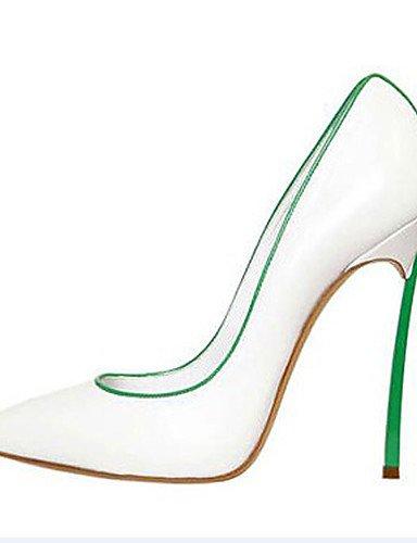 WSS 2016 Chaussures Femme-Bureau & Travail / Habillé / Soirée & Evénement-Noir / Blanc / Gris / Amande-Talon Aiguille-Talons / Bout Pointu-Talons- black-us11 / eu43 / uk9 / cn44