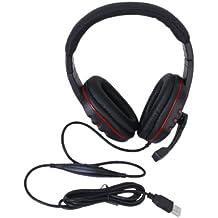 USB Stéréo Casque Ecouteur Anti-Bruit Avec Micro Contrôle Pour Sony PS3
