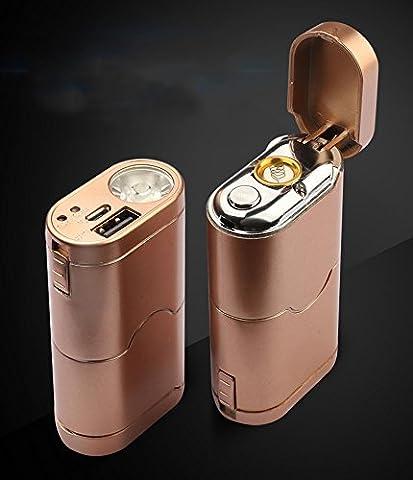 CJOY 3-en-1 USB rechargeable briquets électroniques / lampe torche LED