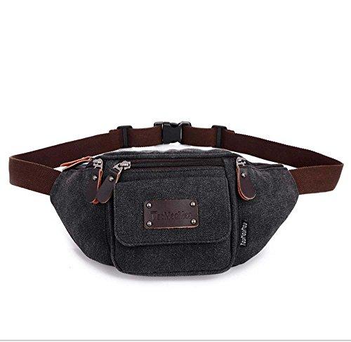 ZHANGRONG- Outdoor laufender Handy persönlich Taschen Sport-Leinwand Multifunktions-Paket Herren Freizeit Brust Tasche Kuriertasche (Farbe optional) 5