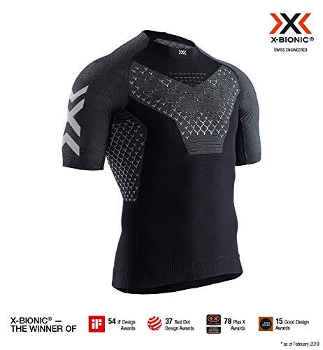 X-Bionic Herren Twyce 4.0 Run, Short Sleeve Shirt, Opal Black/Arctic White, L - Alles Short Sleeve T-shirt