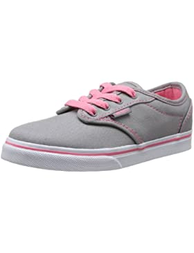 Vans - Atwood Low, Zapatillas Niñas, Gris (canvas/grey/pink Lemonade), 35 EU