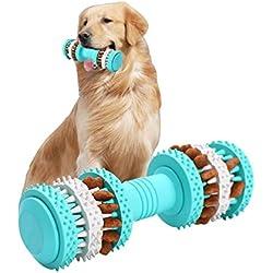 Cachorro Juguetes Interactivo–Squeak juguete para perro de goma perro agilidad y pequeño mediano y grande perros–Fill Masticar juguete con cosas que hacer para detener el aburrimiento Masticar Juguetes–Bone Forma Diseño limpia los dientes