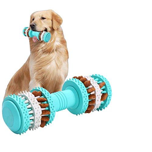 Interaktives Spielzeug für Welpen - Quietschen Hund Agility Gummi Spielzeug für Welpen und kleine Medium Große Hunde - Füllen Kauen Spielzeug mit Leckerlis Stop Langeweile Kauen Spielzeug - Knochen Form Design reinigt Zähne