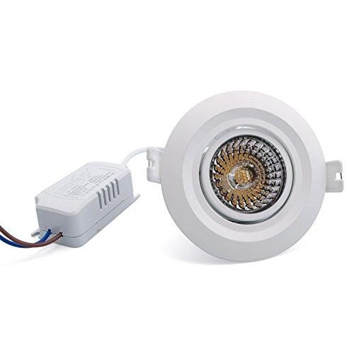LED Einbauleuchte Spot Einbaustrahler Deckenleuchte schwenkbar weißer rahmen inklusive Trafo 230v 7w