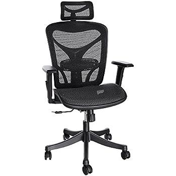 Ergo Tek Mesh Office Chair Black Amazon Co Uk Office