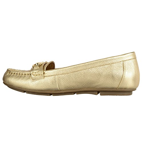 VIONIC Damen Kenya Mokassin, Gold Goldfarben