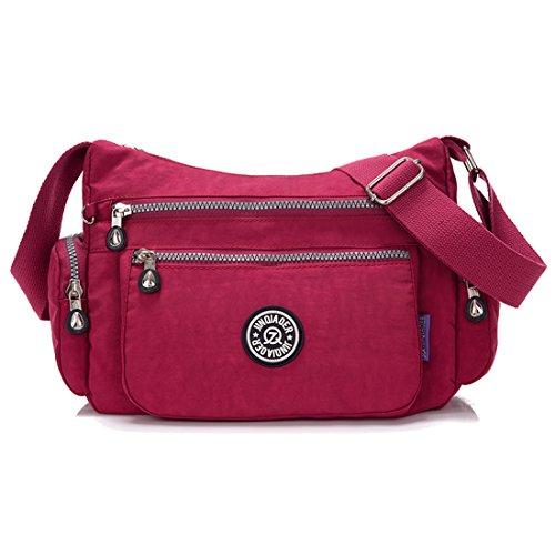 Supa Moden–Borsa a tracolla a tracolla leggero utile Daily PAC Large Handle borsa, donna, Star PrpleRed