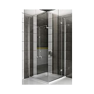 Shower Cubicle/Corner Entry/Real Glass Complete Shower Enclosure Bathroom