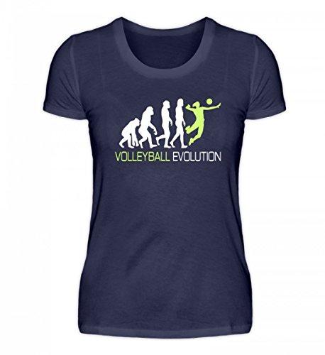 Volleyball T-Shirt Damen Volleyball Evolution Tshirt Geschenk Idee Für Volleyballspieler