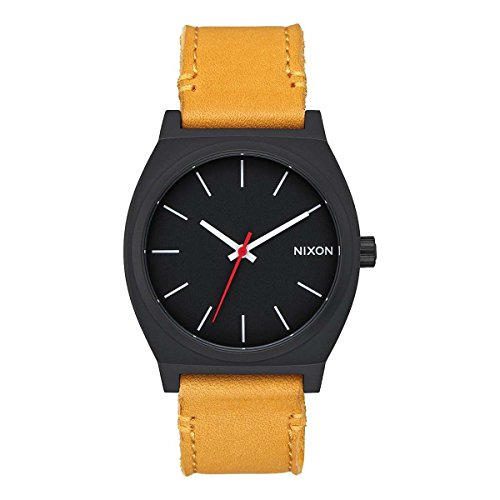 Nixon Herren Analog Quarz Uhr mit Leder Armband A0452448-00