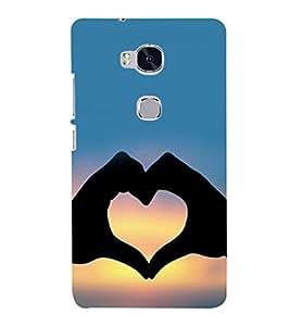 printtech Heart Peace Hardwell Sunset Back Case Cover for Huawei Honor 5X :: Huawei Honor X5 :: Huawei GR5