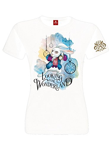 Alice In Wonderland Looking For Wonderland Maglia donna bianco XS