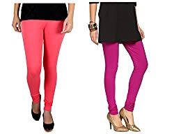 Roop Trading Co girls cotton material, churidar full length legging style, Magenta-gajri colour size available- XL,XXL,XXL