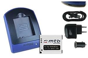 Batterie + Chargeur (USB/Auto/Secteur) pour Panasonic DMW-BCN10 / Lumix DMC-LF1 / Leica BP-DC14 / Leica C (Typ 112)