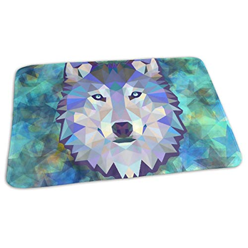 Voxpkrs Premium Baby Diaper Changing Pads for Infant Wolf Head Abstract Stars Background Portable Urine Pads Sanitary Mats Great for Travel/Stroller/Bed/Car -