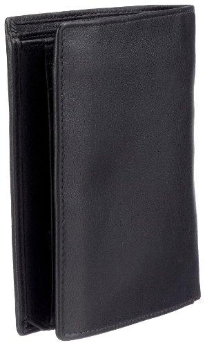 M-Collection Milia Scheintasche (HF) 4900000041, Unisex-Erwachsene Geldbörsen 10x13x1 cm (B x H x T) Schwarz (Black 900)