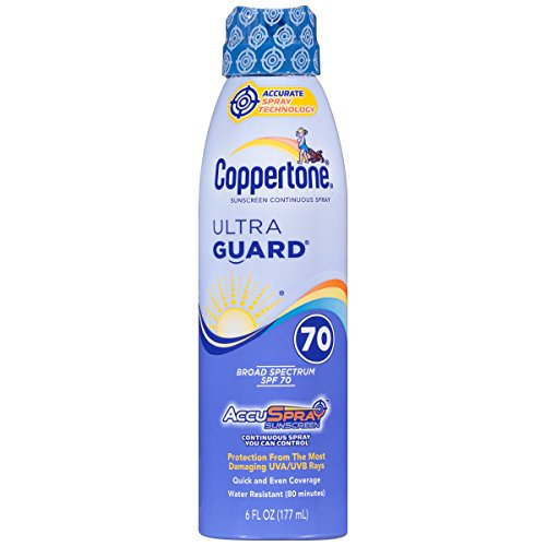 Coppertone UltraGuard Sunscreen Continuous Spray, LSF 70 (Körpersonnenschutz Spray) -