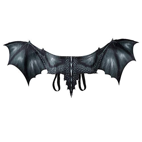 Hollywood Tierkostüm - Lazzboy Fantasy Halloween Dinosaurio Drachenkostüm Cosplay Tierflügel Zubehör Halloween Karneval Drachen Kostüm Für Kinder - Flüge(Schwarz)