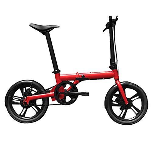 Bicicleta Eléctrica Plegable para Adultos De 16 Pulgadas, Batería De Litio De 36 V para Hombres Y Mujeres Bicicleta Eléctrica Inteligente De Potencia Ultra Ligera,Red