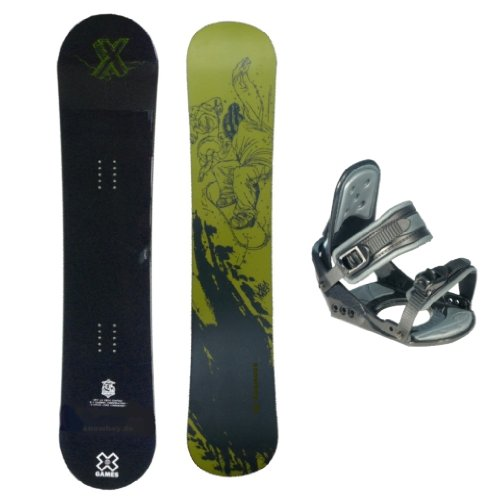 "X-GAMES ''Black'' Freestyle Snowboard 149 cm + Bindung Nidus ""6066"""