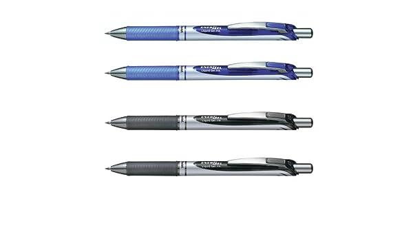 4 Pentel EnerGel BL 77 Gelschreiber farbsortiert