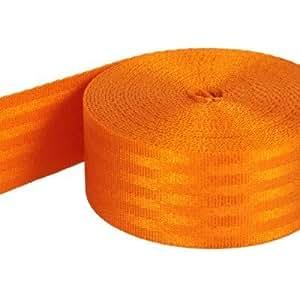 5m Sicherheitsgurtband aus Polyamid, Farbe: orange - 38mm breit - bis 1,5t belastbar