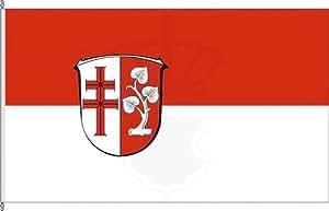 Königsbanner Hochformatflagge Landkreis Hersfeld-Rotenburg - 120 x 300cm - Flagge und Fahne