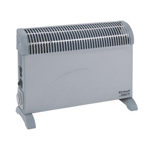 Einhell Konvektor Heizung Turbo CH 2000/1 TT (2000 Watt, mit Gebläse und Zeitschaltuhr, 3 Heizstufen, Thermostat,  Stand- oder Wandgerät)