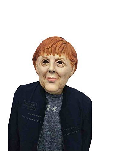 Pet Kostüm Monster - thematys Angela Merkel Maske - perfekt für Fasching, Karneval & Halloween - Kostüm für Erwachsene - Latex, Unisex Damen Herren Einheitsgröße