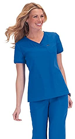Koi Nicole Women's Medical Scrub Top (M, Royal)