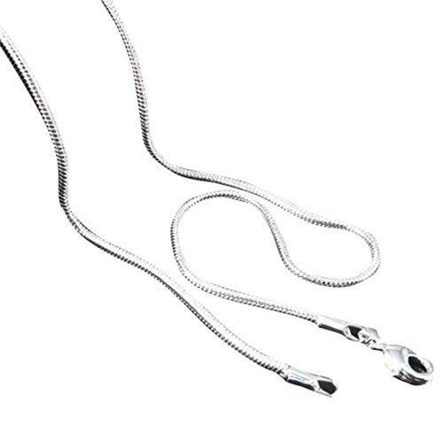 Moonuy Herren Damen Halskette Heißer Verkauf Silberschmuck Schlangenkette Anhänger 16Zoll Geburtstagsgeschenk 22 Zoll (Herren Pyjama-shirt Crewneck)