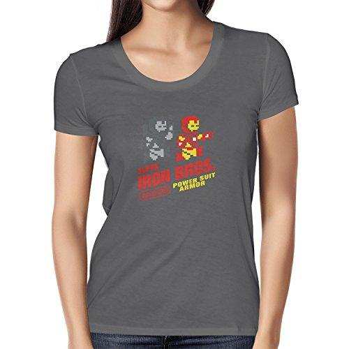 NERDO - Super Iron Bros - Damen T-Shirt Grau