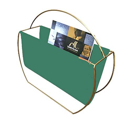 JH Nordic Moderno di Lusso Leggero Portariviste Portariviste Soggiorno Divano Lato Rack di Stoccaggio Camera da Letto Comodino Piccolo Ripiano ++ (Colore : Verde)