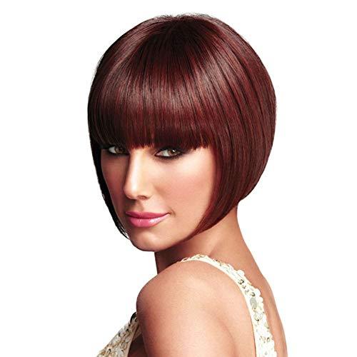 AIYI Perücke weibliche niedliche BoBo Kopf Kurze Glatte Haare Qi LIU Hai Perücke chemische Faser hohe Temperatur Seide Perücke Head Set,