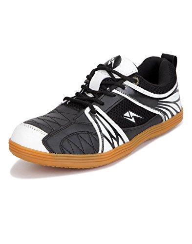 Yepme Zeke Badminton Shoes - Black & White -- YPMFOOT12807_7