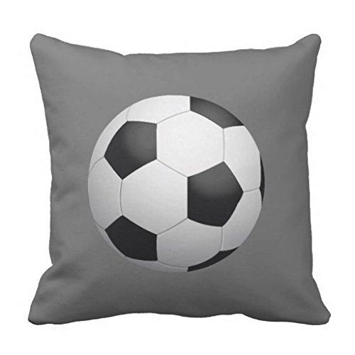 Werfen Kissenbezug 18x 18Leinwand Fußball Kissen Fall Bezüge mit Reißverschluss Couch Kissenbezug, quadratisch Dekorative 45,7x 45,7cm -
