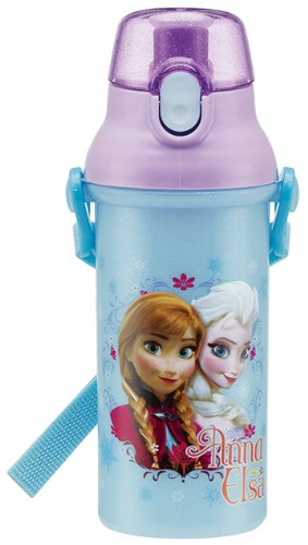 Disney Frozen Anna - Elsa One-touch plastique Bouteille Flask 480ml (Japon importation)