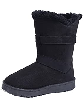 AgeeMi Shoes Damen Schuhe Twin Schnalle Stiefel Classic Winter Pelzstiefel
