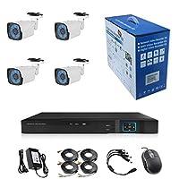 مجموعة أمن CCTV من 4Channel 1080P/2.0MP 1920X1080 Camera 4CH Surveillance DVR kit with 4pcs 2.0mp 1080P معدني للاستخدام الخارجي Bullet Camera Alarm System&P2P Home Security