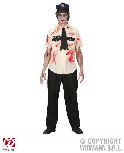 KOSTÜM - ZOMBIE POLIZIST - Größe 46/48 (Polizist Kostüm Zombie)
