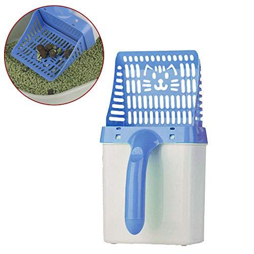 Nützliche Katzenstreu Schaufel Haustier Reinigungswerkzeug Kunststoff Scoop Katze Sand Reinigungsmittel Toilette Für Hundefutter Löffel Streu,Blue