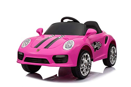 Kids 2x6V 15W TWO MOTORS Battery Powered Electric Ride On Sports Coupe Toy Car (Model: S2988) (PINK)
