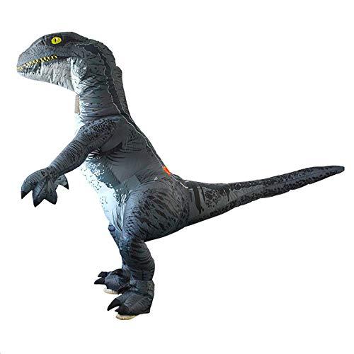 HXYL Adult Halloween Dress Up Dinosaurier Kostüm, Dinosaurier Raptor Aufblasbares Kostüm Halloween, Weihnachten, Maskerade, Lustiger Streich (Raptor-kostüm)