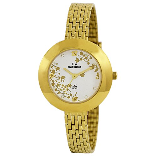 Maxima Analog White Dial Women's Watch-41480CMLY image