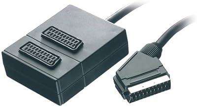 Vivanco - Regleta múltiple de euroconector con 2 puertos (0,2 m)